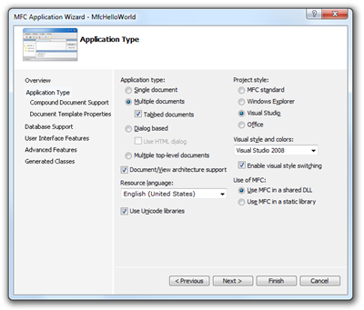 Your First MFC C++ Ribbon Application with Visual Studio