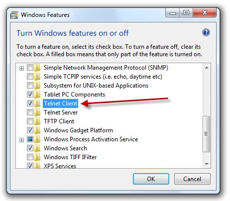 how to turn off telnet