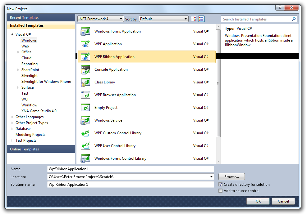 Announcing: Microsoft Ribbon for WPF RTW - Pete Brown's
