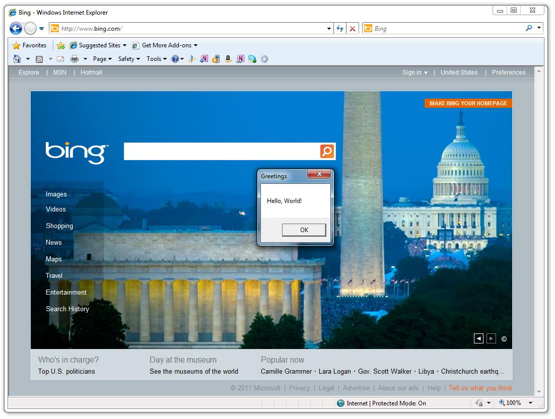 Creating an Internet Explorer Add-in Toolbar Button using