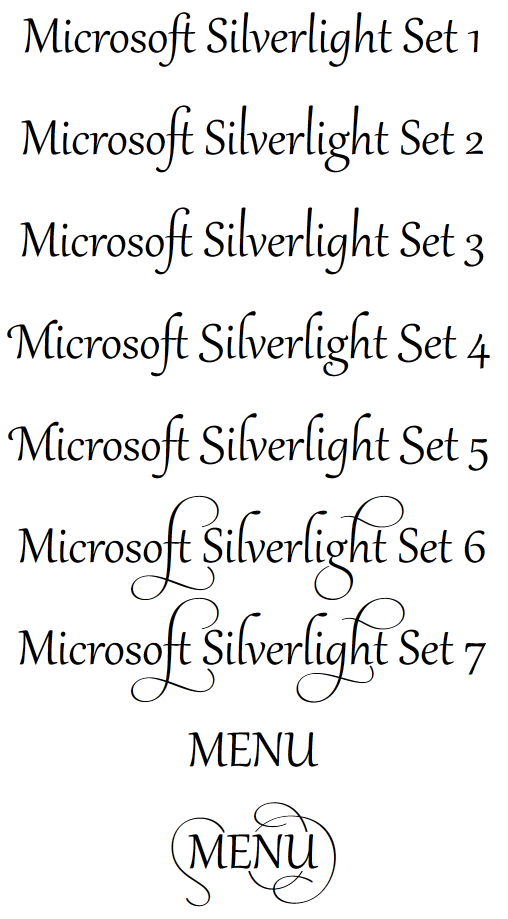 Silverlight 5 (and WPF 4) OpenType Support - Pete Brown's 10rem net