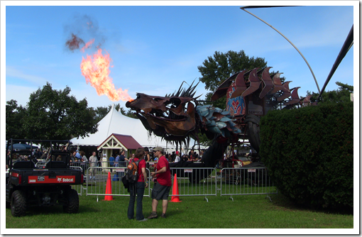 Fire-breathing metal stegasaurus. You know you want one