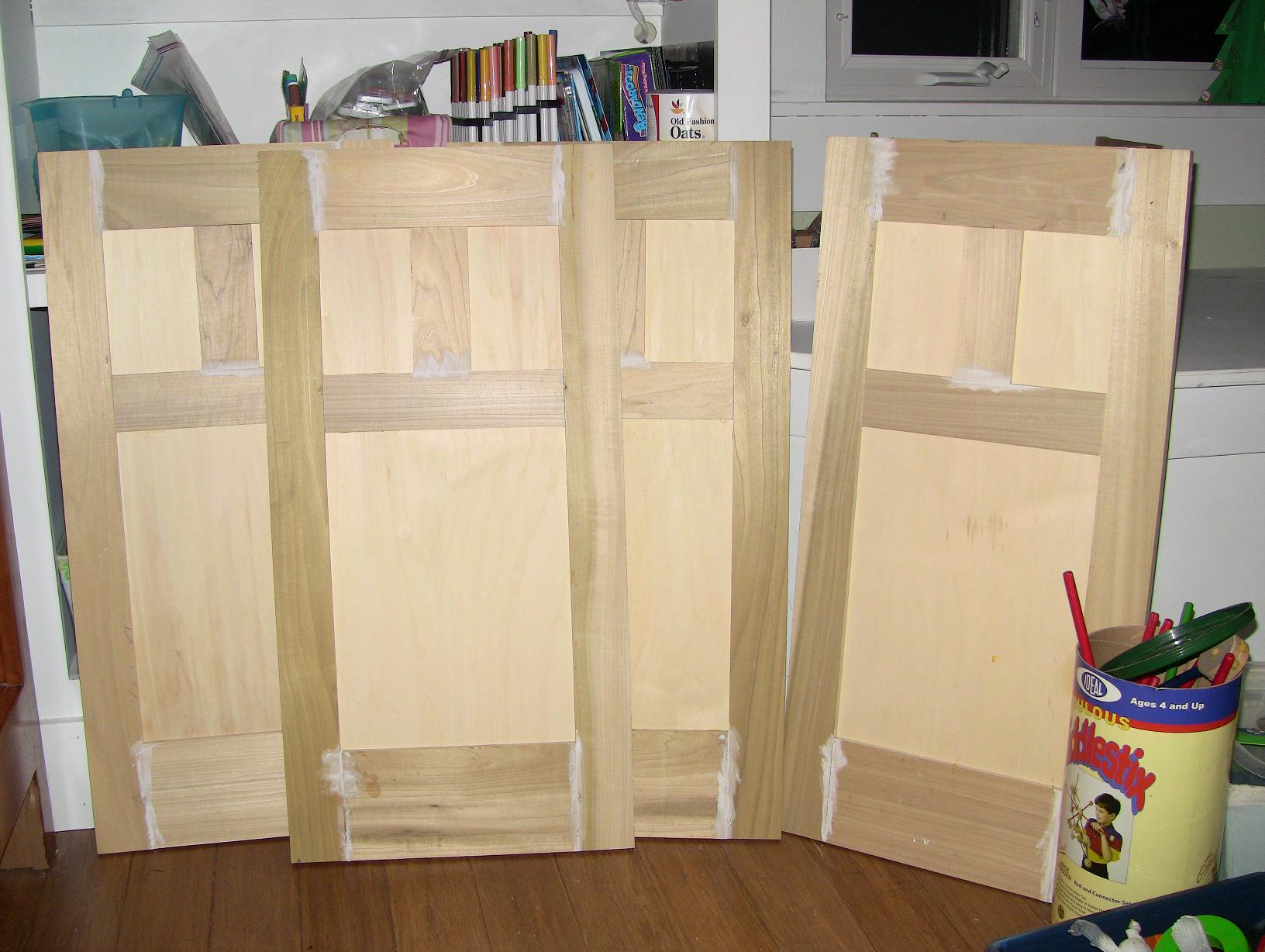 Updating plywood cabinet doors