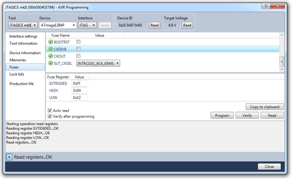GNU C++ BlinkenLED Part 1 on the AVR (ATmega1284P with
