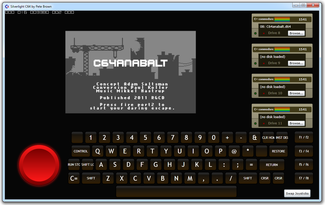 The Commodore 64 Emulator Emulating Pointers In A Sandbox When The Real Thing Is Not Allowed Pete Brown S 10rem Net