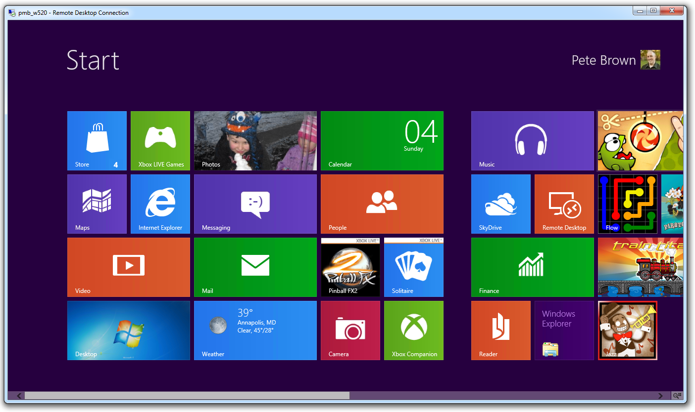 My Unofficial Tips for Remoting into a Windows 8 Machine