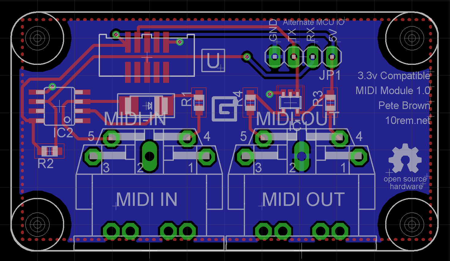 Designing the Open Source Hardware .NET Gadgeteer MIDI Module - Pete ...