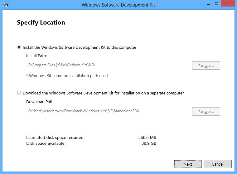The update Windows SDK and Windows App Certification Kit tool (now
