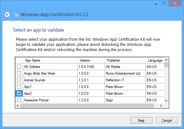 The update Windows SDK and Windows App Certification Kit tool (now ...