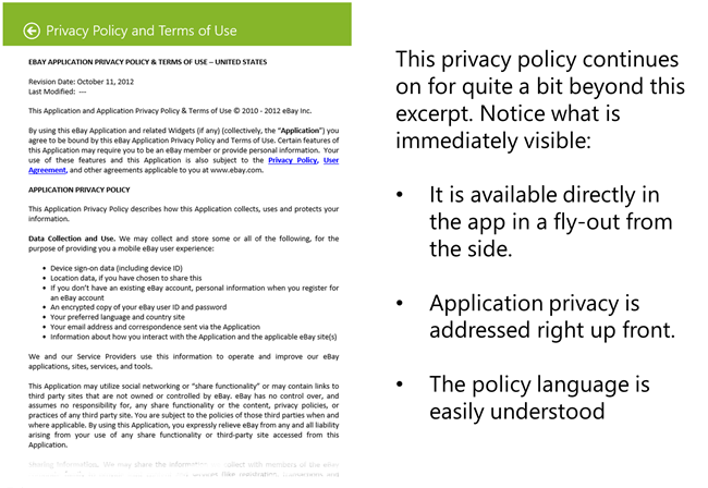 traits of a good windows store app privacy policy pete brown 39 s. Black Bedroom Furniture Sets. Home Design Ideas