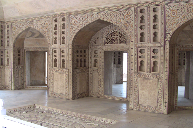 Where Shah Jahan was imprisoned