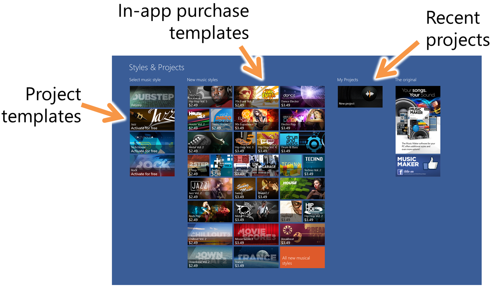 Designing the hub experience for Windows Store creative (art ...