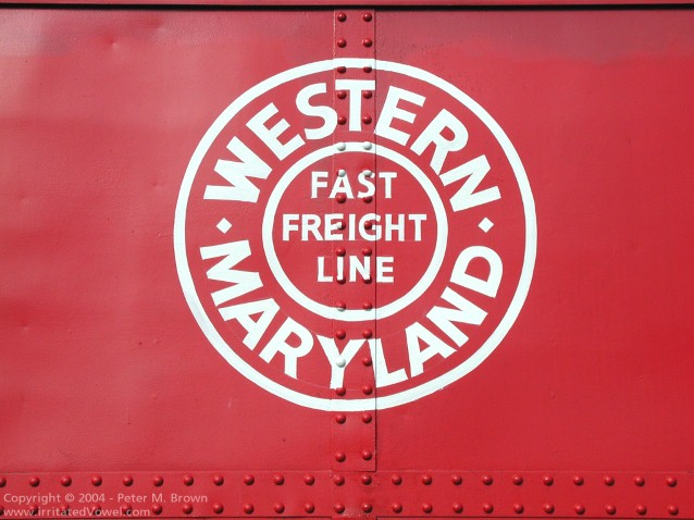 Western Maryland Railway Caboose 1826 Herald Color (Preview)