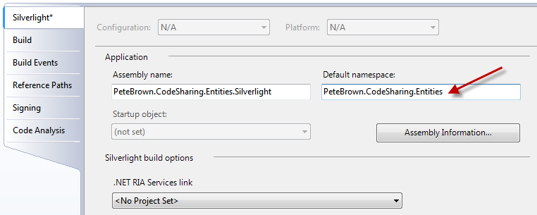 Sharing Entities between WCF and Silverlight - Pete Brown's