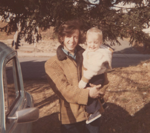 Dad and Pete, November 1973