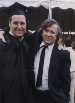 Dad and Pete, May 1996