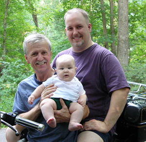 Dad, Ben and Pete - August 2006