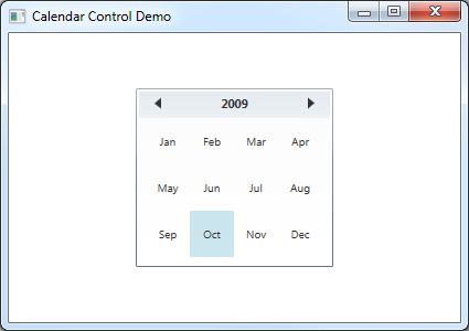 Introducing the WPF 4 Calendar control - Pete Brown's 10rem net