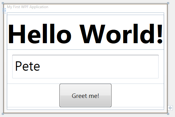 Getting Started with WPF : Hello World in multiple flavors