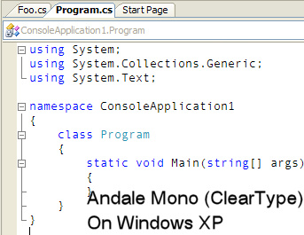 Consolas Font Pack for Visual Studio 2005 - Pete Brown's