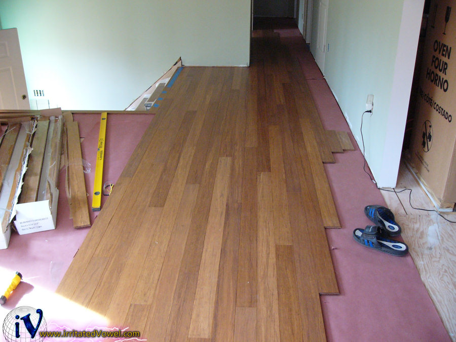 How to lay bamboo flooring alyssamyers for Installing bamboo flooring